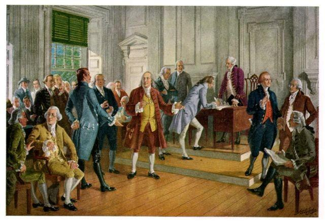 July 1-4 Congress debates and revises the Declaration of Independence.