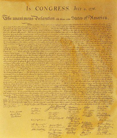 July 19, 1776 Congress orders the Declaration of Independence officially inscribed and signed by