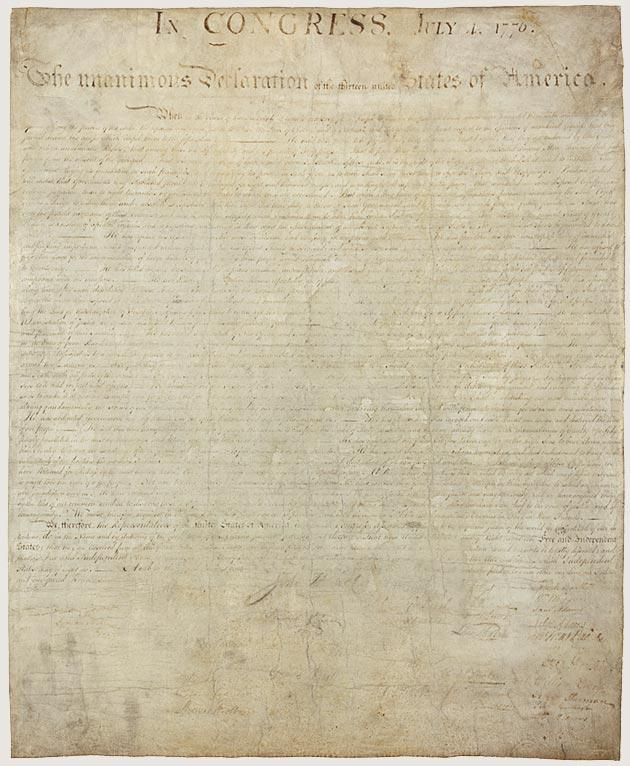 Declaratio n of Independe nce Today the original Declaration of Independence may be viewed at the National