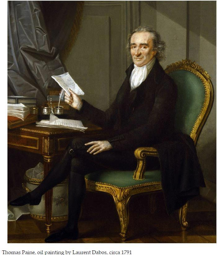 Author of Common Sense, Paine advocated for