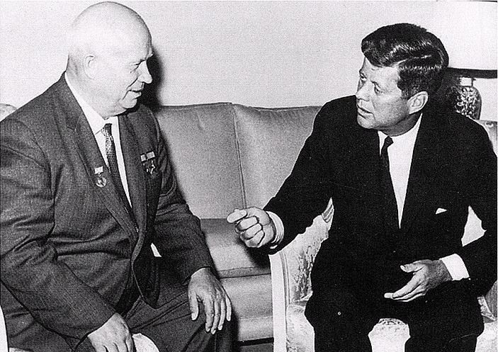 the In retaliation Castro allowed the USSR to build nuclear missile bases in Cuba, just 90 miles from Florida. Kennedy responded with a naval of Cuba and demanded Khrushchev remove the missiles.