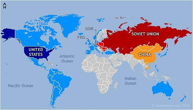 Cold War MDCS LDCS Political division of the world between the allies of the United States and the allies of the Soviet Union.