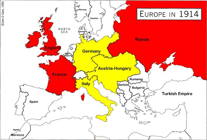 Causes of WWI Alliances that divided Europe into compe4ng camps Na4onalis4c feelings