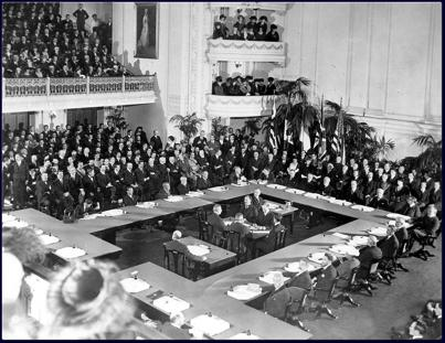 Treaty of Versailles (1919) Forced Germany to accept responsibility for war and loss of territory and to