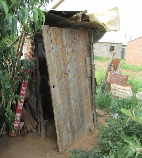 have no legal right to claim sanitation services from the local municipality, indicated that the toilet system(s) they use