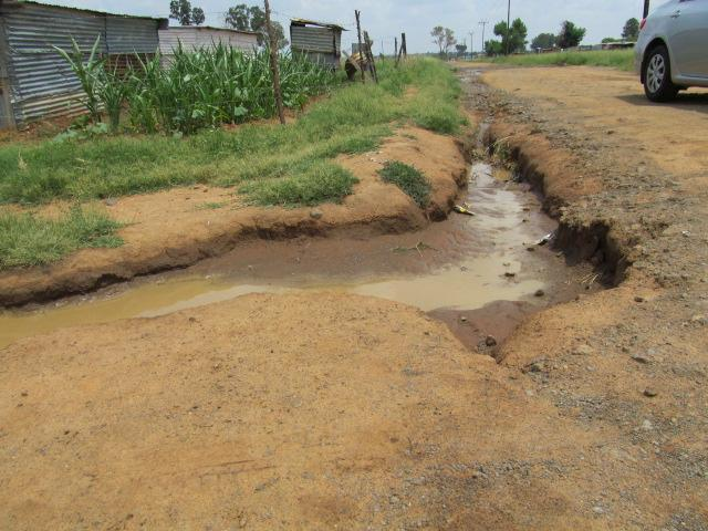 The inadequately provided infrastructure is not maintained and is not sustainable for prolonged use and as such pipes burst in some parts of Grasland, especially