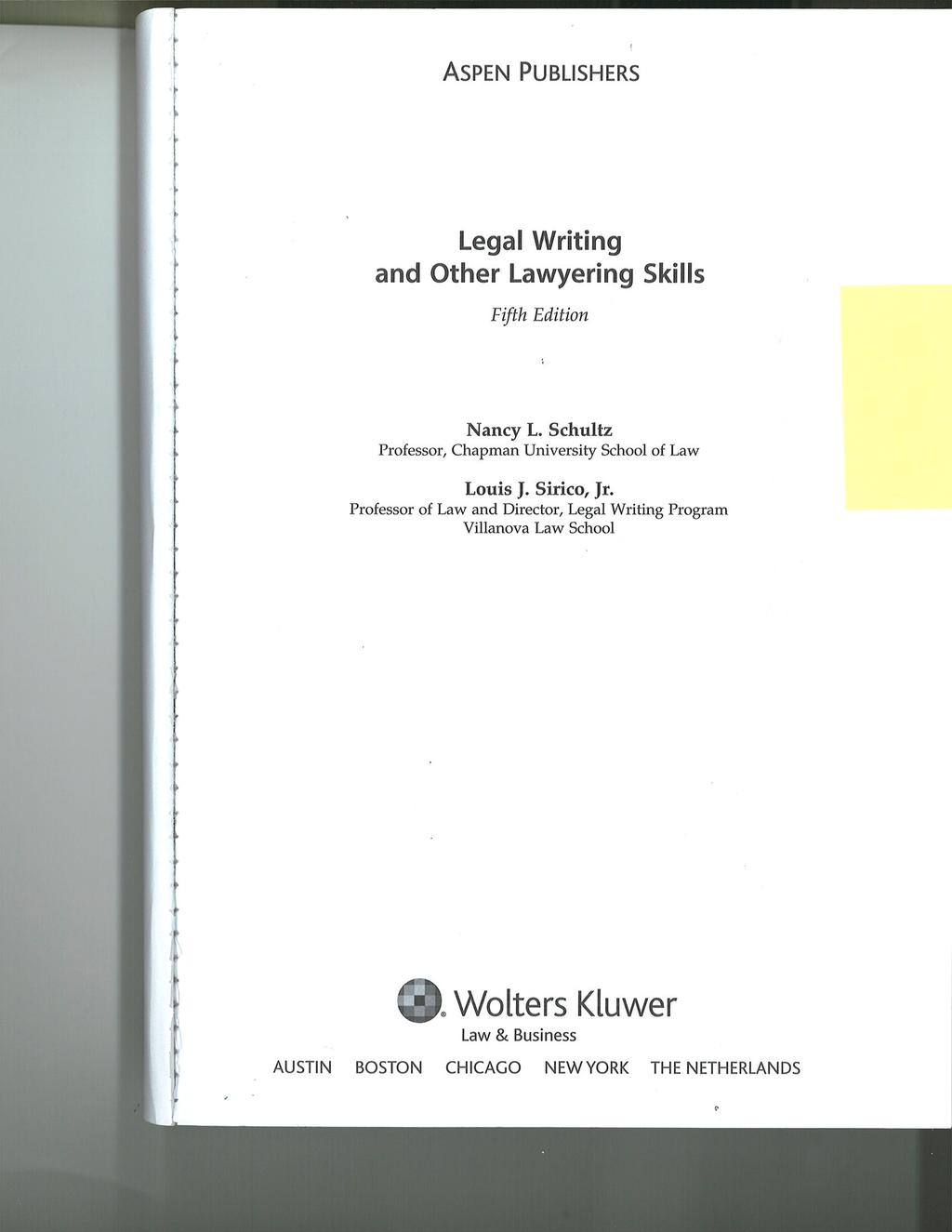 Copyright 2010 by Wolters Kluwer/Aspen.