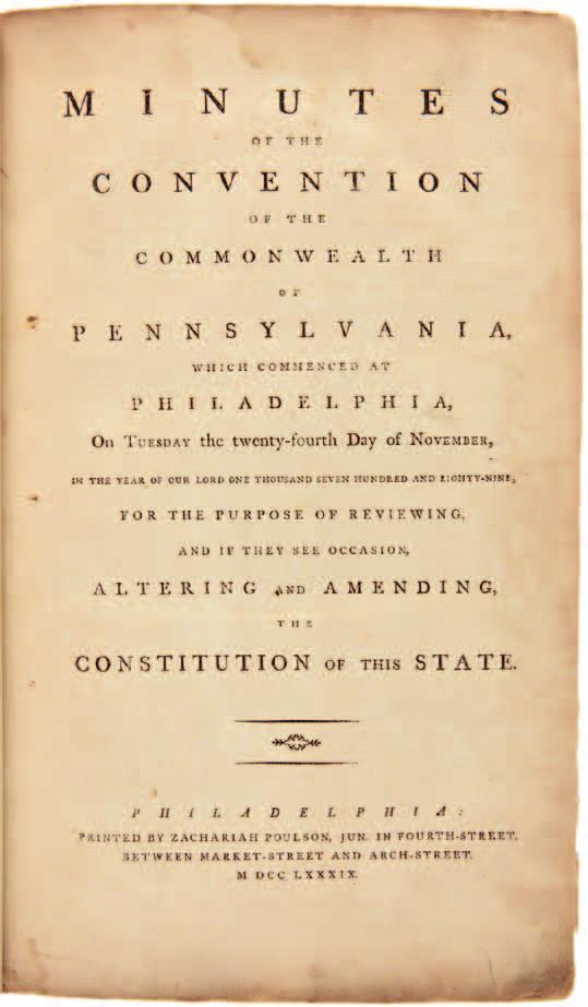 [bound with:] MINUTES OF THE GRAND COMMITTEE OF THE WHOLE CON- VENTION OF THE COMMONWEALTH OF PENNSYLVANIA... Philadelphia: Printed by Zachariah Poulson..., [1790]. 222,101pp.
