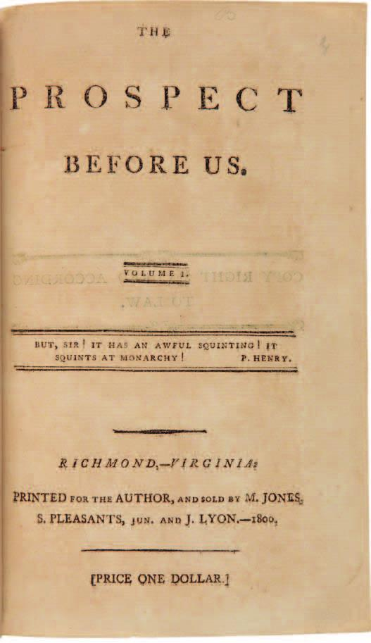 financed by Vice President Thomas Jefferson who was, along with James Madison, actively working against the president and his Federalist cohorts.