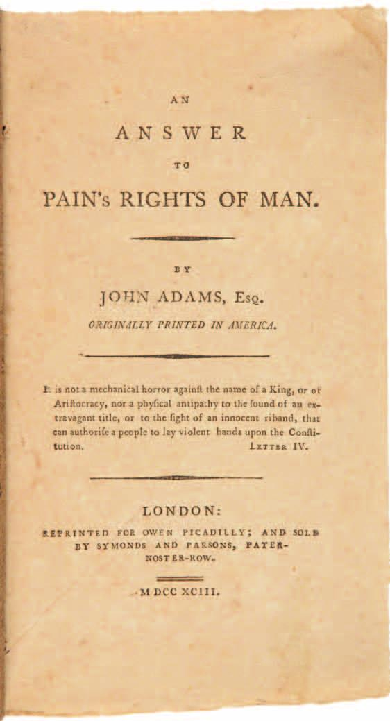 1. Adams, John: [XYZ Affair]: MESSAGE OF THE PRESIDENT OF THE UNITED STATES, TO BOTH HOUSES OF CONGRESS. JUNE 21st, 1798. [Philadelphia. 1798]. 8pp. Dbd.
