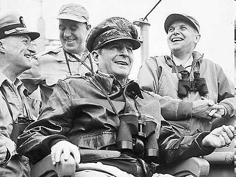 General MacArthur- In charge of US troops MacArthur threatens to use nuclear bombs on N.