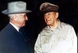 Truman- the President is the only person who can launch nuclear bombs *Truman fires MacArthur for going too far