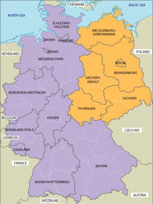 Germany-(Democratic) 3 zones controlled by US, Eng.