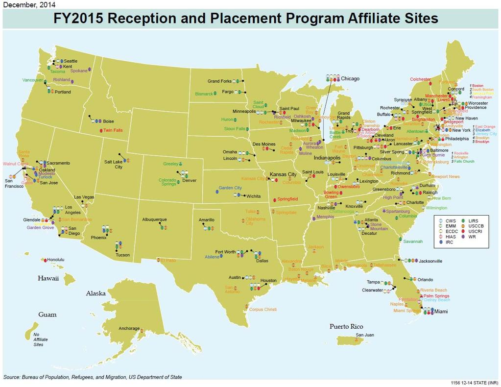 Service Providers Resettlement Agencies -JFS, CC, IRC, AAA Community