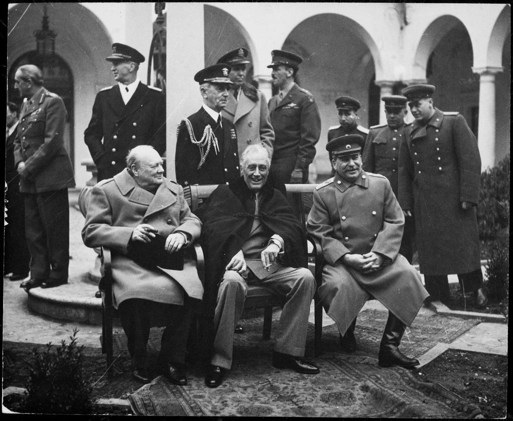 "Yalta Conference Poland to hold free elections Declaration of a Liberated Europe- ""the right of all people to chose the"