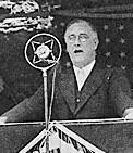 Becoming President 1932: Franklin Delano Roosevelt ran for President. I Pledge You, I Pledge Myself to a New Deal.