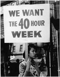 1938 - Fair Labor Standards Act Set maximum number of hours at 44 hours per week, decreased to