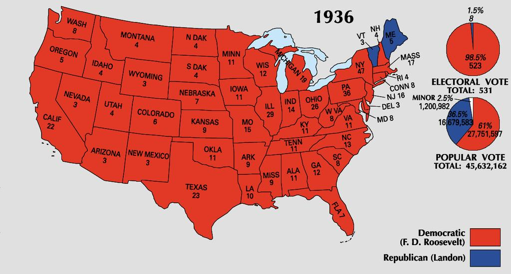 The Election of 1936 Roosevelt s Second Term Roosevelt would be nominated by the Democrats for a second term in 1936.