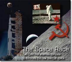 The Soviets put the first man in space and the Americans put the first man on the moon.