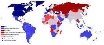 Where...Cold War The cold war was world wide...countries of the world aligned themselves with either of the two superpowers.
