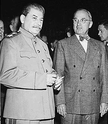 Origins of the Cold War US President Harry Truman and Soviet Union dictator Joseph Stalin disagreed on how Germany and Eastern Europe should be controlled after WWII Recall US was capitalist; Soviet