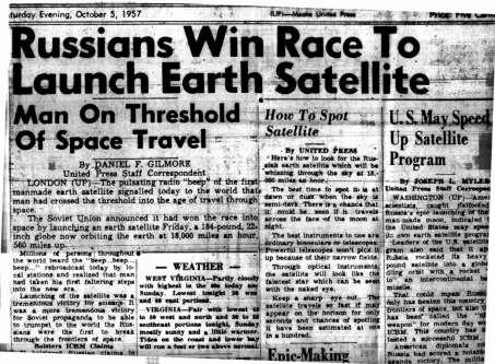 Cold War Blasts into Space October 1957 USSR launches the Sputnik I satellite into space Official