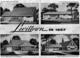 centers to suburbs William Levitt leader in the mass production of