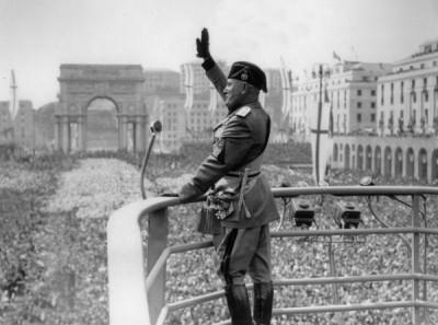 Italy Under Mussolini (1922-1943) Government Totalitarian dictatorship led by IL DUCE = means The Leader One