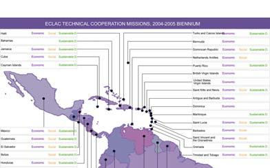 TECHNICAL ASSISTANCE MISSIONS 1,564 technical assistance missions in 41 Latin American and Caribbean countries SUBJECT AREAS