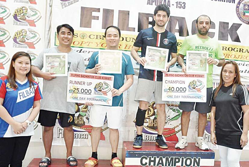 Runner-Up. BADMINTON They moved up to the quarter-finals by taming Essam and Mohd Minhaj 15-13, 15-12, overcoming Nanang and Anto 15-13, 12-15, 15-11 and pummeling Raja and Darshan 15-7, 15-9.