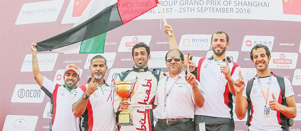 SPORTS 39 Russia s Vandyshev wins both sprint races, USA finish second Team UAE pipped to UIM H2O Nations Cup glory SHANGHAI, China, Sept 22: Rashed Al- Qamzi and Rashed Al-Tayer came up just short