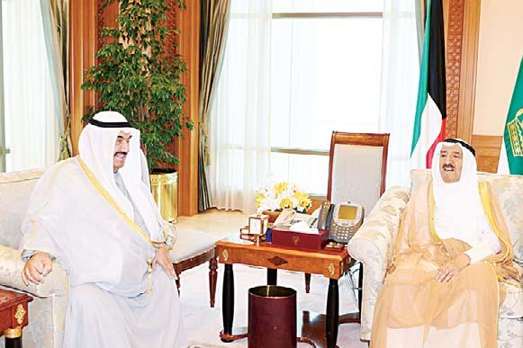 Khaled Al- Saeedi Audiences of His Highness the Amir His Highness the Amir Sheikh Sabah Al-Ahmad Al-Jaber Al-Sabah received on Tuesday at Seif Palace His Highness Sheikh Nasser Al-Mohammad Al- Ahmad