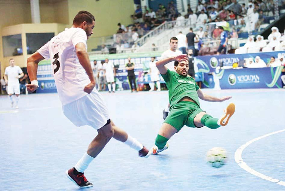 Kuwait Handball Association in Dai ya area. Kuwait Steel, Just Clean, Boubyan Bank and Gulf Cables have reached the semis after winning the qualifying matches on Tuesday.