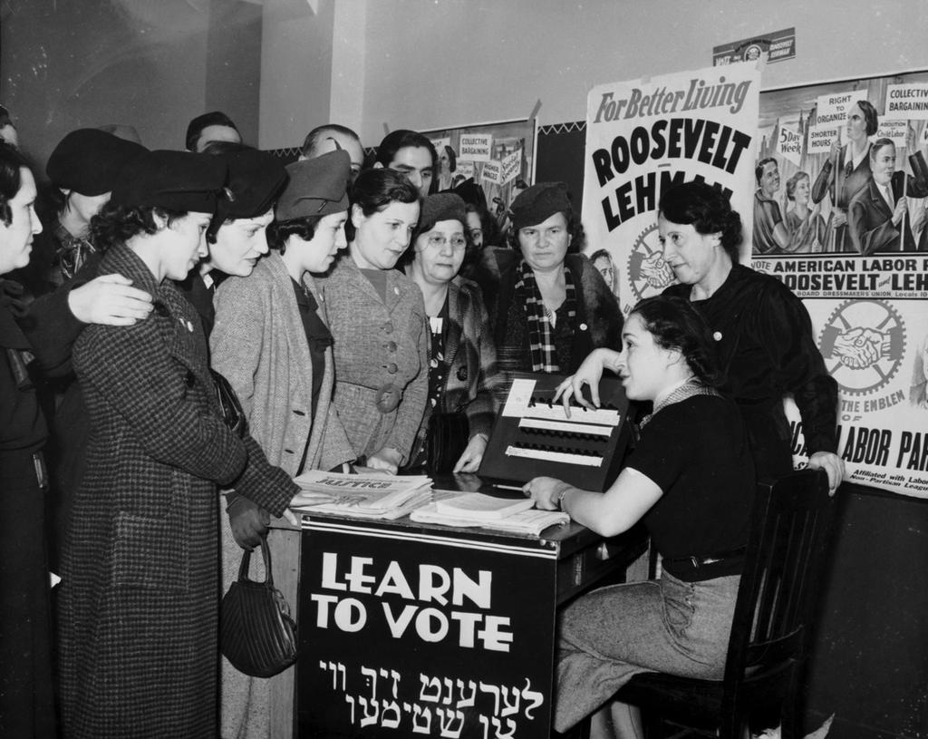 Woman Vote Nationally 1918