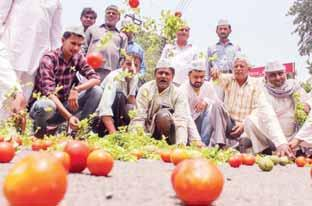he 10-day long nationwide Tprotest called by the farmers outfits entered the third day on Sunday, affecting vegetable and milk supply. Vegetables were sold at some places under police protection.