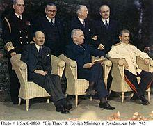 Potsdam Conference In Germany 1945.