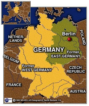 Berlin was the former capital of Germany. After World War II, the allies divided Berlin into four sections.