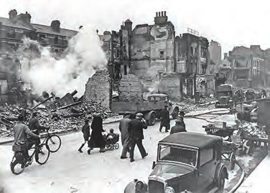 796 Chapter 27 Fighting the Good Fight in World War II, 1941-1945 Figure 27.6 London and other major British cities suffered extensive damaged from the bombing raids of the Battle of Britain.