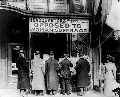 "618 Chapter 21 Leading the Way: The Progressive Movement, 1890-1920 DEFINING ""AMERICAN"" The Anti-Suffragist Movement The early suffragists may have believed that the right to vote was a universal"