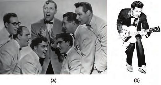 Chapter 28 Post-War Prosperity and Cold War Fears, 1945-1960 843 Figure 28.14 The band Bill Haley and His Comets (a) was among the first to launch the new genre of rock and roll.