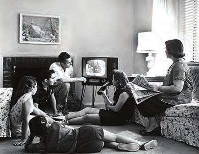 Chapter 28 Post-War Prosperity and Cold War Fears, 1945-1960 845 Figure 28.16 An American family relaxes in front of their television set in 1958.