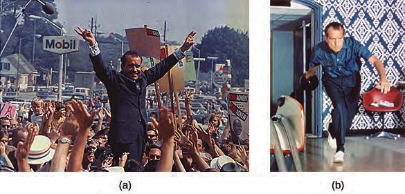 Chapter 30 Political Storms at Home and Abroad, 1968-1980 899 Figure 30.7 On the 1968 campaign trail, Richard Nixon flashes his famous V for Victory gesture (a).