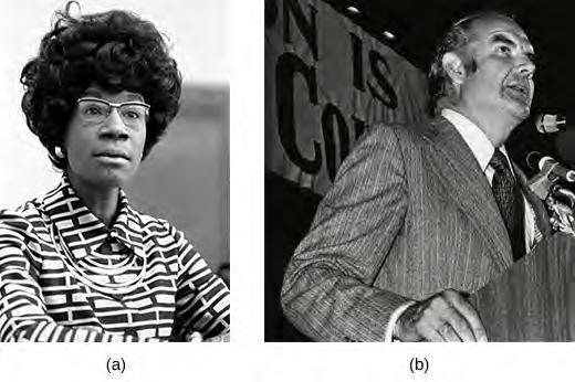 Chapter 30 Political Storms at Home and Abroad, 1968-1980 911 Figure 30.15 In November 1968, Shirley Chisholm (a) became the first African American woman to be elected to the House of Representatives.