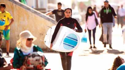 Yet some club members say attitudes are changing. First international women s competition Rim Bechar, 28, said that when she began surfing four years ago, it was a bit more difficult.