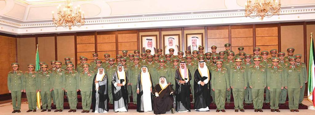 Amiri Diwan and KUNA photos KUWAIT: His Highness the Amir Sheikh Sabah Al-Ahmad Al-Jaber Al-Sabah commended on Tuesday Kuwait Army and soldiers for their efforts as part of the Saudi-led campaign in