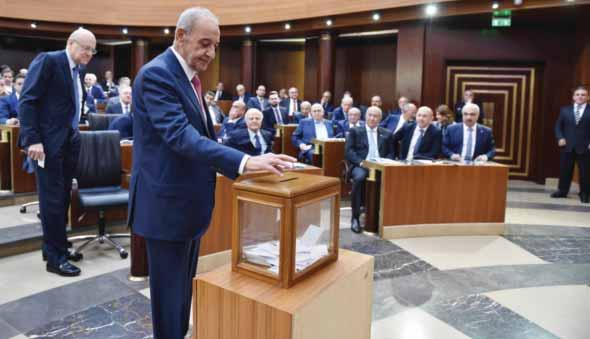 Established 1961 7 International Lebanon parliament reelects Hezbollah ally Berri speaker Lawmakers elect Ferzli as deputy speaker BEIRUT: Lebanon s new parliament yesterday elected veteran speaker