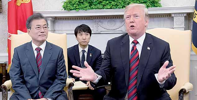 Hosting South Korean President Moon Jae-in at the White House, Trump did little to quell speculation about the wavering prospects of a historic first summit between US and North Korean leaders.