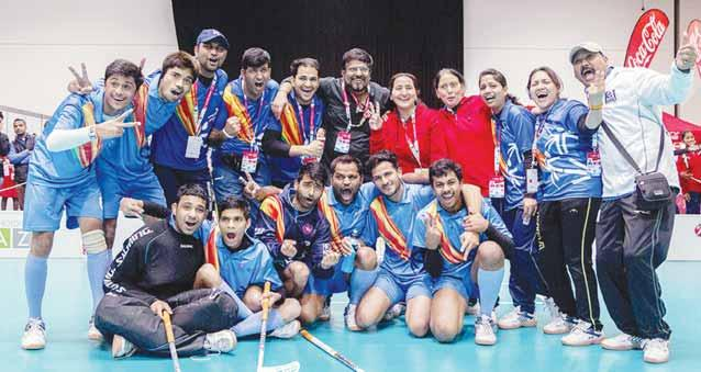 in a day or two, the State Jmust be busy in celebrating Special Olympics Bharat Team Floor Ball winning Gold Medal in Austria on Saturday in which a Jharkhand boy Abhiranjan Kumar played wonders for