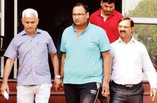 he Anti-Corruption Branch T(ACB) has arrested Vinay Bansal, the son of Chief Minister Arvind Kejriwal s brother-in-law in an alleged PWD scam.