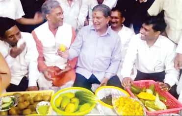 At a wedding point on East Canal Road, the senior Congress leader hosted a feast of mangoes, Pahadi cucumbers and he proposal raised by the TState Urban Development Minister a year ago for the